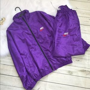 Vintage Nike Windbreaker Set 2 Pc Purple Sweats